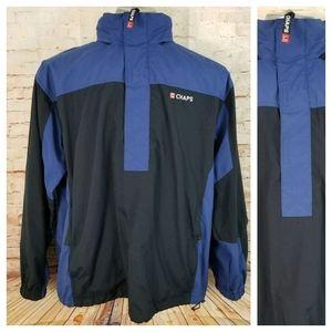 Vintage Chaps Men's M Blue Black Pullover Jacket